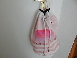 Victoria s Secret Pink Tasche rosa weiß Rucksack packbag superschön