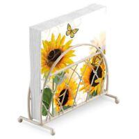 Sonnenblumen Schmetterlinge 20 X 3 Ply Papier Napkins & Gitter Serviette Etui