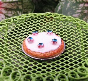 Miniature Dollhouse Fairy Garden Halloween Eyeball Pie - Buy 3 Save $5