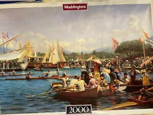 Waddingtons 2000 Piece De-Luxe Jigsaw Puzzle Regates Aux Paquis Frederick Dufaux