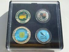 SET of 4 Stemmed GOLF BALL MARKER 2000 Majors US Open, PGA, MASTERS, FREEPOST