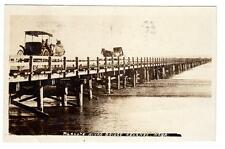 Ne - Kearney Nebraska 1908 Rppc Postcard Platte River Bridge Horse Buggy