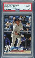 2018 Topps Update Gleyber Torres RC Rookie #US200 (Yankees) PSA 9 MINT