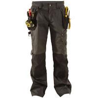"DEWALT LOW RISE WORK TROUSERS GREY DWC17-014 WAIST SIZE 30""-42""  LEG 29""-33"""