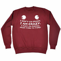 Not Crazy Normal Time To Time SWEATSHIRT Joke Cool Present birthday fashion gift