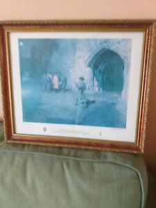 Ceremony of the Keys Terence Cuneo Gurkha Rifles Framed Print and one unframed
