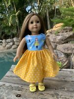 """Emma Wiggles Dress For 18"""" Doll. American Girl/Our Generation/Baby born Dolls"""