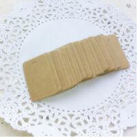 Marrón kraft rectángulo en blanco regalo columpio etiquetas papel fiesta b*ws