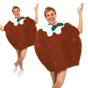 Christmas Pudding Costume Festive Mens Ladies Xmas Fancy Dress Outfit Adults