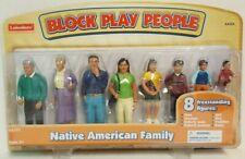 Lakeshore NATIVE AMERICAN FAMILY Block Play People NEW 8 Figures AA204
