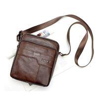 New Men Shoulder Bag Genuine Leather Cowhide Messenger Satchel Tablet Handbag