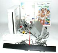 Nintendo Wii Console Bundle White RVL-001 GameCube Compatible TESTED