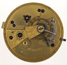 E & J LIDDLE SALTBURN BY-THE-SEA ENGLISH LEVER POCKETWATCH MOVEMENT SPARES R273