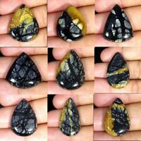 Natural Picasso Jasper Pear Cabochon Loose Gemstone Collection