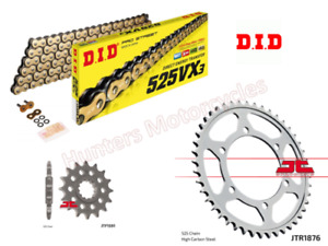 Yamaha MT07 DID Gold XRing Heavy Duty Chain and JT Sprocket Kit Set 2014 to 2018
