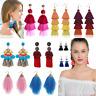 Fashion Women Bohemian Long Tassel Earrings Boho Fringe Hook Dangle Drop Jewelry