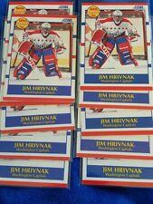 LOT of 11  1990-91 Score #386 Jim Hrivnak RC prospect Washington Capitals goalie