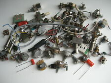 Lot of Vintage Guitar Pot Switch Jack Parts for Project Repair