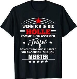 Fun Shirt Wenn ich in die Hölle komme Teufel Thron Meister Spruch Geschenk