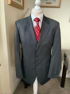 Ermenegildo Zegna Grey Wool Suit 42R 36W 31IL