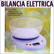 BILANCIA ELETTRONICA ELETTRICA DA CUCINA ALIMENTI CON DISPLAY DIGITALE 5KG DIETA