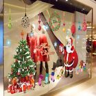Christmas Tree And Santa Decorations Wall Stickers Removable Decal Mural DIY