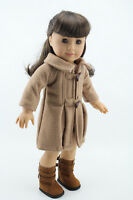 Doll Cloth Fit 18 inch American Girl Doll Camel Woolen Coat Outfit Birthday gift