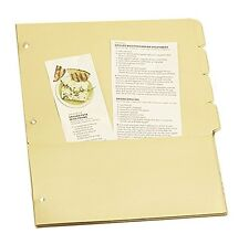 Recipe Tab Dividers with Pockets for 3-Ring Binders, New, Meadowsweet Kitchens