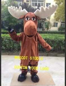 Halloween Adult Moose Mascot Costume Cosplay Party Game Dress Outfit Advertising