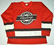 "Vintage Rawlings ""The Mark of a Pro"" Red Mesh Hockey Jersey Made in USA Boys L"