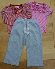 Premiers Jours De Survêtement Pantalon 2X Tops ensemble rayé Taille 12 - 18 mois < S71