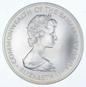SILVER - WORLD Coin - 1973 Bahama Islands 5 Dollars - World Silver Coin *650