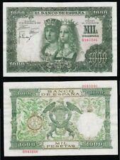 1000 Pesetas 1957 Reyes Católicos. Sin Serie, Número BASTANTE BAJO 0043246.