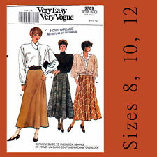 Vintage Vogue 9789 Flared Gored Skirts Sewing Pattern Very Easy Sizes 8 10 12