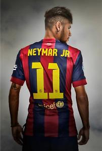 Neymar JR Posters Football World Cup Wall Sticker Wallpapers Football Fan Gifts