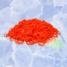 Qty 600 ORANGE LOOM RUBBER BAND REFILL~INCLUDES 25 FREE S-CLIPS SHIPS FROM USA