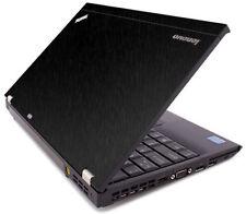 BLACK BRUSHED TEXTURED Vinyl Lid Skin fits IBM Lenovo ThinkPad X220 X230 Laptop