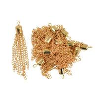 12 Stücke 50mm Gold Tassel Anhänger-Halskette DIY für