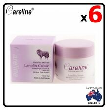6 x Careline Lanolin Cream With Grape Seed Oil & Vitamin E 100ml Australia Made