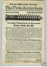 1940 PAPER AD The Fluta Accordeon Flute Like Instrument