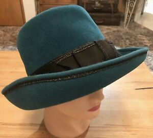 Felted Teal Wool Hat