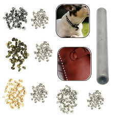 6.5mm 9mm Brass Punk Goth Studs Hand Tool for Fashion Jeans Leathercrafts 100pcs