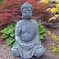 Steinfigur frostfester antiker großer Buddha Shiva Steinguss Gartenfigur Deko