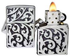Zippo Lighter 28530 Filigree High Polish Chrome Windproof NEW