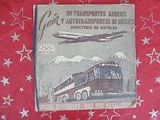 GUIDE DE TRANSPORTS AÉRIENS ET AUTOBUS JEUX OLYMPIQUES MEXICO 1968 - PUB HOTEL