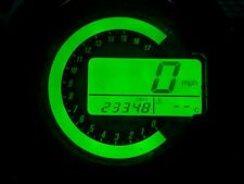 GREEN KAWASAKI ZX6R C1H C6H 04 TO 06 LED CLOCK KIT LIGHTENUPGRADE