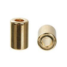 Verschluss für Lederarmbänder, Makramee, Zugverschluss gold 2 Stück V86