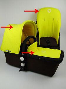 Bugaboo Chameleon Baby Kinderwagen Gelb Schürze Sonnendach Sitzbezug Fleece Set