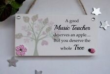 A Good Teacher Free Standing or hanging  Wooden Gift Plaque