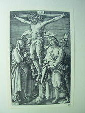 Albrecht DURER VINTAGE incisione su rame crucifixtion-PASSIONE N. 11